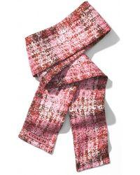 COACH - Printed Tweed Ponytail Scarf - Lyst