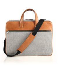 Jack Spade Oxford Leather Bartlett Briefcase gray - Lyst