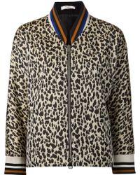 Bouchra Jarrar - Leopard Print Zipped Jacket - Lyst
