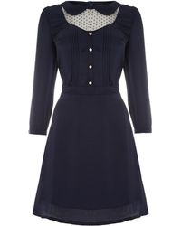 Cutie Polka Dot Tea Dress - Lyst