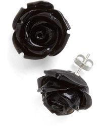 Ana Accessories Inc Retro Rosie Earrings in Black - Lyst