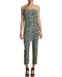 Stella McCartney Printed Strapless Jumpsuit - Lyst