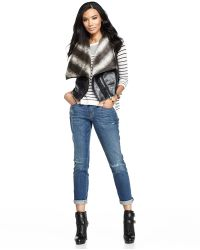 Annabelle New York - Faux-Shearling Hooded Vest - Lyst