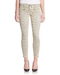 Current/Elliott Soho Zi Animal Print Skinny Jeans - Lyst