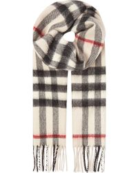 Burberry Cashmere Check Scarf - Lyst