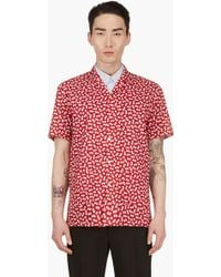 Burberry Prorsum Red Short Sleeve Bermuda Shirt - Lyst