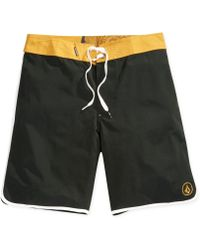 Volcom Solid Scallop Board Shorts - Lyst