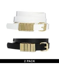 Asos 2 Pack Multi Metal Keeper Belt - Lyst