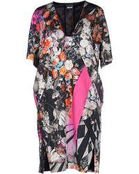 Just Cavalli Short Dress gray - Lyst