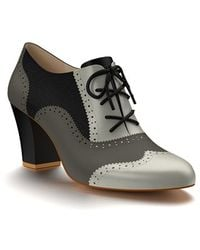 Shoes Of Prey - Colorblock Calf-Hair Oxford Boots - Lyst