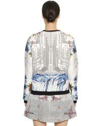 Piccione.piccione | Floral & Circuits Neoprene Sweatshirt | Lyst