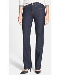 Nydj 'Hayley' Tonal Stitch Stretch Straight Leg Jeans - Lyst