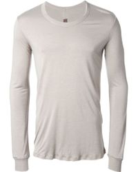 Rick Owens Long Sleeve T-shirt - Lyst