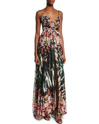 Elie Saab | Sleeveless Floral-print A-line Gown | Lyst