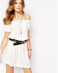 First & I - Off The Shoulder Gypsy Dress - Lyst