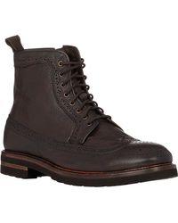 Elia Maurizi Side-zip Wingtip Boots - Lyst