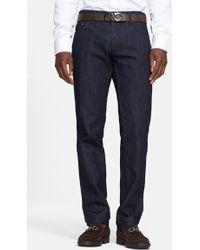 Ferragamo - 'blue' Straight Leg Jeans - Lyst