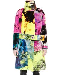 Just Cavalli Multicolor Coat with Grommet Belt - Lyst
