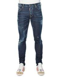 DSquared² Slim-Fit Distressed Denim Jeans - Lyst