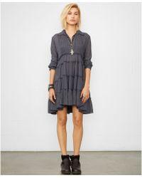 Denim & Supply Ralph Lauren Longsleeve Fourtiered Dress - Lyst
