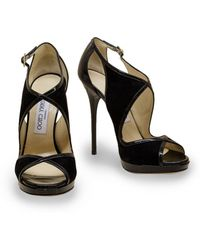Jimmy Choo | Black Leondra Sandals | Lyst