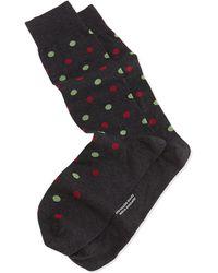 Pantherella Mid-calf Two-color-spot Lisle Socks - Lyst