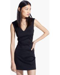 Mango Cut-Out Neoprene-Effect Dress - Lyst