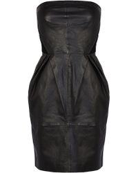Coast Elza Leather Dress - Lyst
