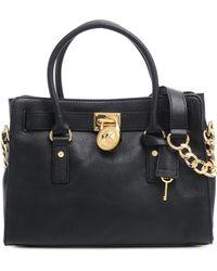 Michael Kors Medium Hamilton Ew Leather Bag - Lyst