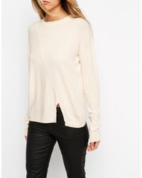 Asos Jumper In Structured Knit With Seam Detail - Lyst