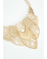 Missguided Darva Geometric Shapes Necklace Gold - Lyst