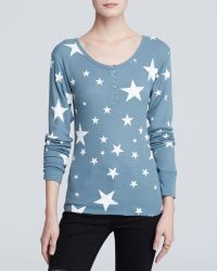 Wildfox Top - Disco Stars Thermal Henley - Lyst