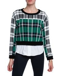 Sea New York Plaid Sweater and Shirt Combo - Lyst