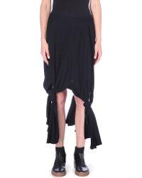 Yohji Yamamoto Tiedhem Wool Skirt Black - Lyst