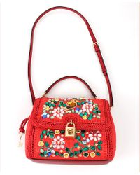 Dolce & Gabbana Embroidered Front Flap Bag - Lyst