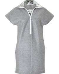 Paco Rabanne Wool Blend Dress With Metallic Collar - Lyst