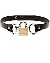 Rodarte Padlock Buckle Leather Belt - Lyst