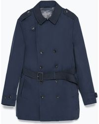 Zara Double-Breasted Trench Coat - Lyst