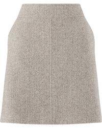 Jigsaw - Winter Herringbone Skirt - Lyst
