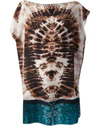 The Textile Rebels Tiedye Mixed Print Tunic Top - Lyst