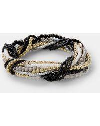 Violeta by Mango   Contrast Bead Bracelet   Lyst