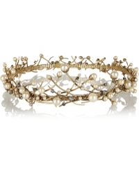 Erickson Beamon - Stratosphere Gold-Plated Swarovski Crystal and Faux Pearl Headpiece - Lyst