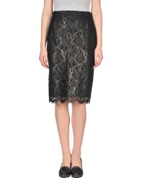Gucci Knee Length Skirt black - Lyst