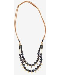 Lizzie Fortunato Exclusive Sea Spike Double Pearl Necklace - Lyst