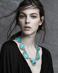 Pamela Huizenga - 18k Gold Turquoise Necklace With Diamonds - Lyst
