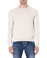 DSquared2 Crew-neck Wool and Cashmere-blend Jumper - Lyst