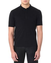 McQ by Alexander McQueen Mcq Swallow Badge Polo Shirt Alexander Mcqueen Black - Lyst