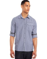 Kenneth Cole Reaction Rolltab Elbow Patch Shirt - Lyst