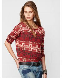 Denim & Supply Ralph Lauren Patterned Crewneck Top - Lyst