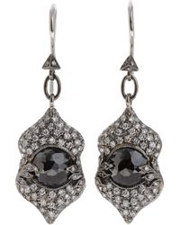 Cathy Waterman Black Diamond Narnia Earrings - Lyst